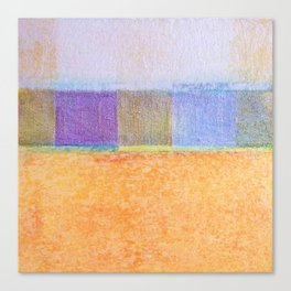 Amber and Mauve Square Collage Canvas Print