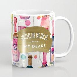 Cheers My Dears – Gold Coffee Mug