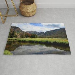Watercolor Landscape, East Inlet Trail 04, Colorado Rug