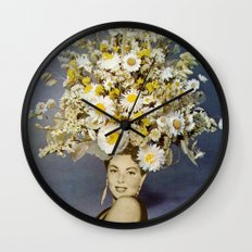 Floral Fashions Wall Clock