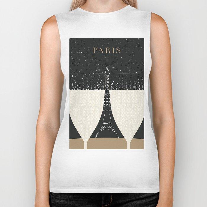 Vintage poster - Paris Biker Tank