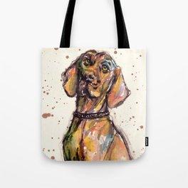 Hungarian Vizsla Dog Closeup Tote Bag