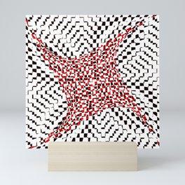 black white red 2 Mini Art Print