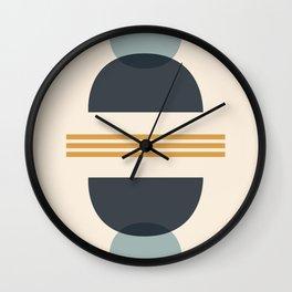 Sapphire Abstract Half Moon 2 Wall Clock