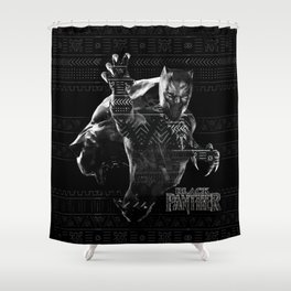 Black Panthers Shower Curtain