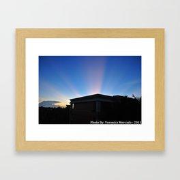 Ray of Lights Framed Art Print