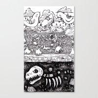 velvet underground Canvas Prints featuring Velvet Underground by Khaedin