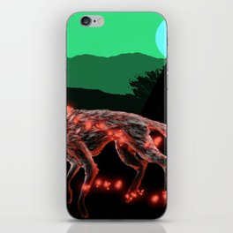 Lost ember wolf iPhone Skin