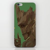 groot iPhone & iPod Skins featuring Groot by tophatmonster
