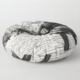 Fearless Girl & Bull - NYC Floor Pillow