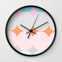 ALMA LIGHT - Mid Century Modern Pattern Graphic Design Wall Clock