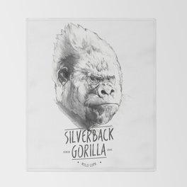 SILVERBACK GORILLA Throw Blanket