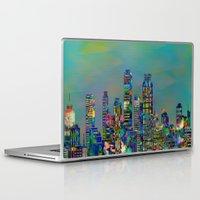 karu kara Laptop & iPad Skins featuring Graffiti City by Klara Acel
