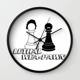 Lethal Wea-pawn Wall Clock