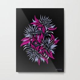 Hidden Creatures - Dark Purple Metal Print