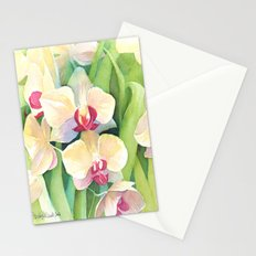 Cascading orchids Stationery Cards