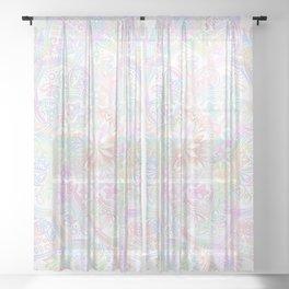 Lace Mandala - White Holo Sheer Curtain