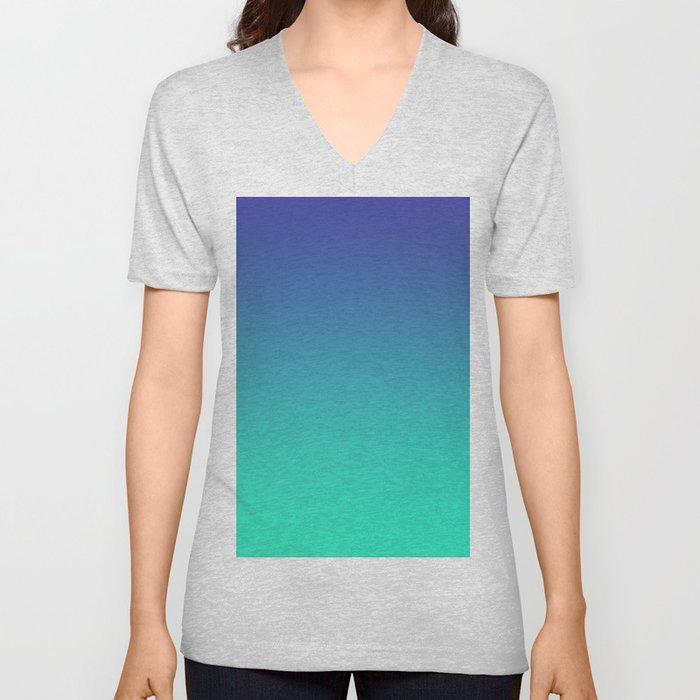 LUSH COVE - Minimal Plain Soft Mood Color Blend Prints Unisex V-Neck