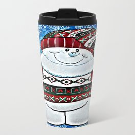 Bundled Up Snowman Travel Mug