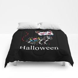 Cat Colorful Halloween Comforters