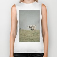 cows Biker Tanks featuring Moo Cows by Pure Nature Photos