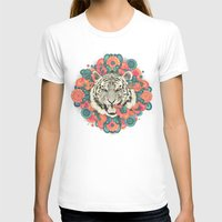 zentangle T-shirts featuring bengal mandala by Laura Graves