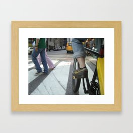 Bicycle New York Framed Art Print