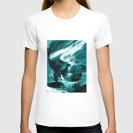 Abstract Artwork Petrol #1 T-shirt