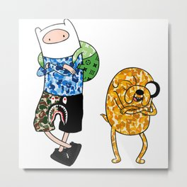Bape The Dog and Finn Metal Print