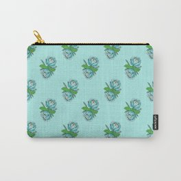 Spooky Blue Roses Carry-All Pouch