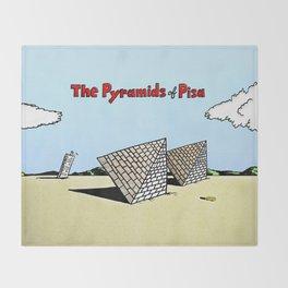 The Pyramids of Pisa Throw Blanket