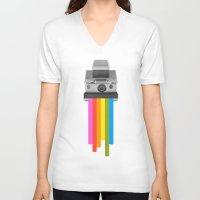 rainbow V-neck T-shirts featuring Taste the Rainbow by Zeke Tucker