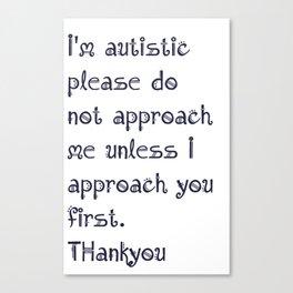 Autism aproach Canvas Print