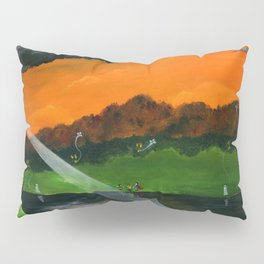 Hilly Haunted Lighthouse Pillow Sham