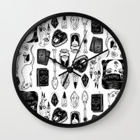 teen titans Wall Clocks featuring teen Witch by lOll3