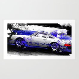 PORSCHE Carrera RS 1972 Art Print