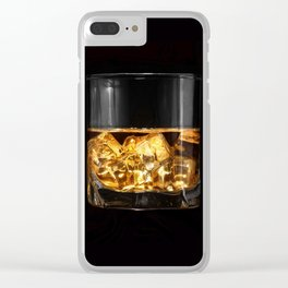 Glass of whiskey (color) Clear iPhone Case