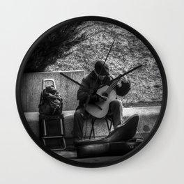 Street Musician Wall Clock