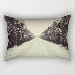 Avenue during a snowing. Rectangular Pillow