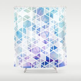 Geometric Triangle Pattern Shower Curtain
