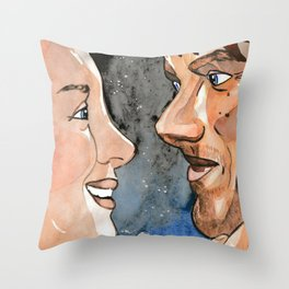 Claire and Jamie re-united Throw Pillow