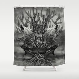 Odin -All-Father Shower Curtain