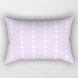 Geometric Droplets Pattern Linked - Pastel Lilac and White Rectangular Pillow