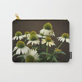 Wild White Coneflowers Carry-All Pouch