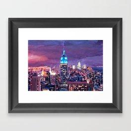 Empire State Building Feeling Like A Blue Giant Framed Art Print