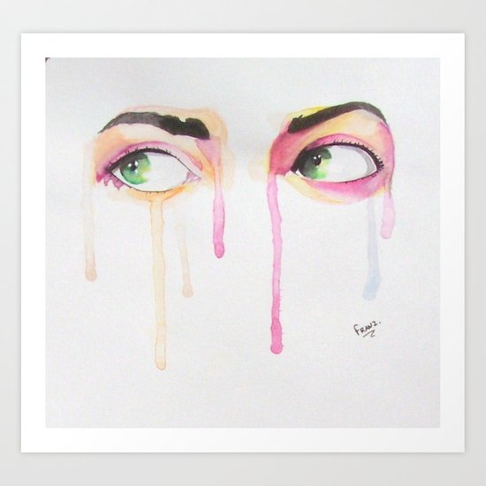 BIG EYES Art Print