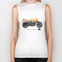 motorbike Biker Tanks featuring motorbike- photo of freedom by GO-BIKE-GO