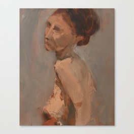 Figure Study with Red Hair Canvas Print