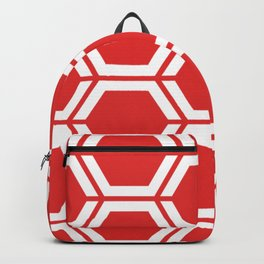 Permanent Geranium Lake - red - Geometric Polygon Pattern Backpack