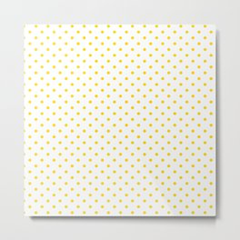 Dots (Gold/White) Metal Print